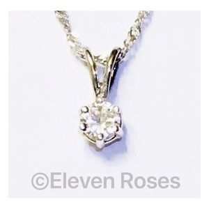 Jewelry - 14k Gold 1/4 CT Solitaire Pendant Necklace